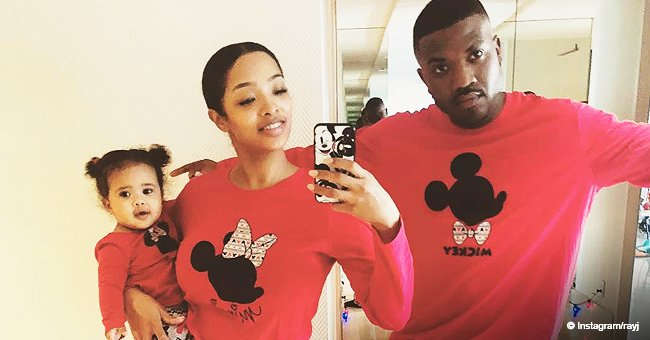 Ray J & Princess Love's Daughter Melts Hearts with Curly Head of Hair as She Tries to Talk in Video