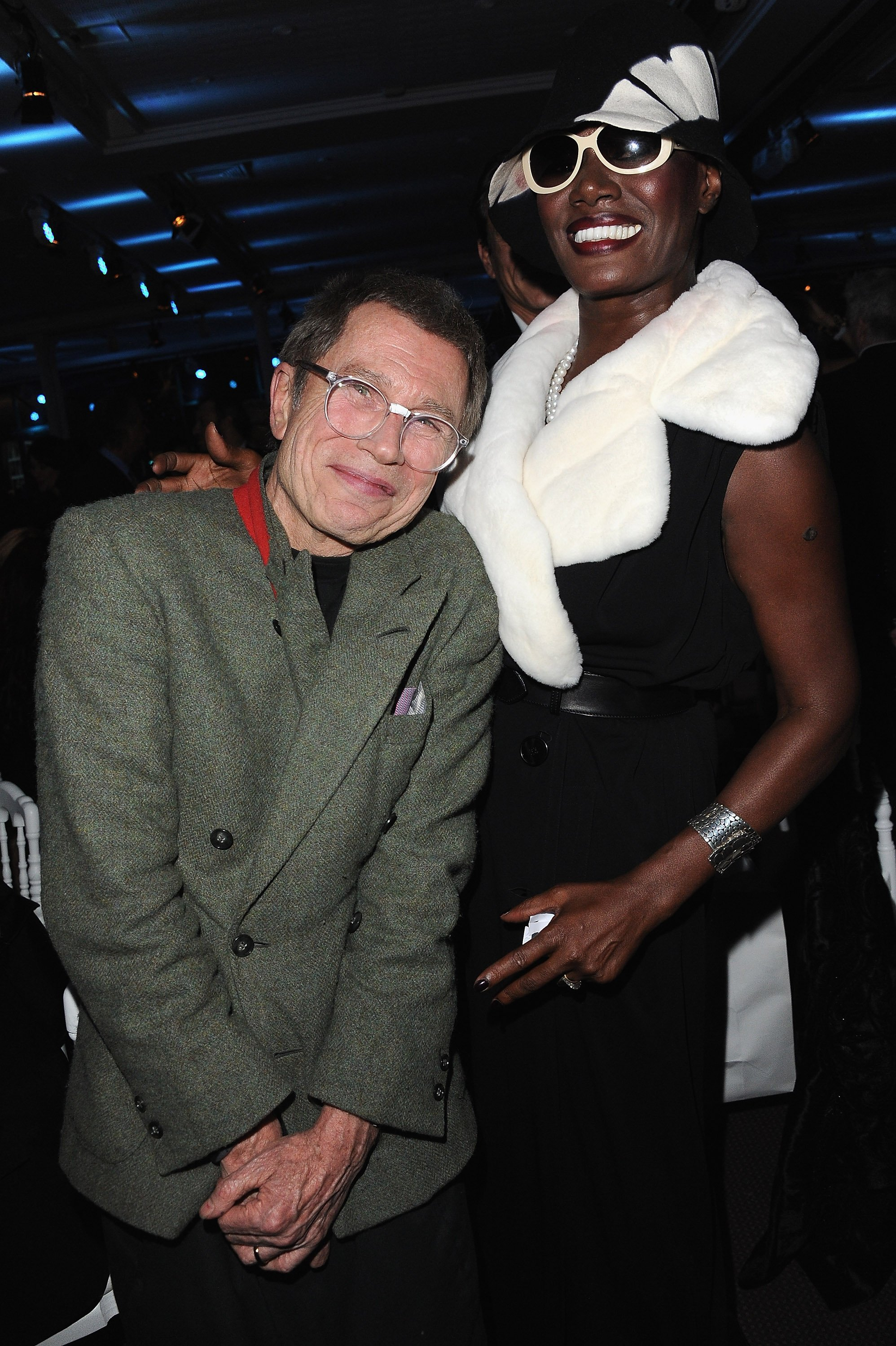 Grace Jones & her son's father, Jean-Paul Goude at the Sidaction Gala Dinner in Paris, France on Jan. 26, 2012. |Photo: Getty Images.