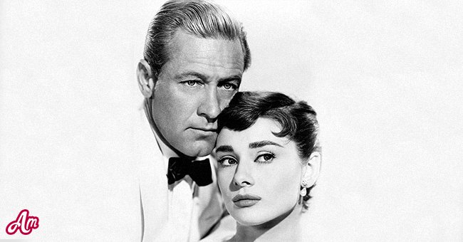 """William Holden (1918 - 1981) and Audrey Hepburn (1929 - 1993) in a promotional portrait for """"Sabrina,"""" circa 1954. 