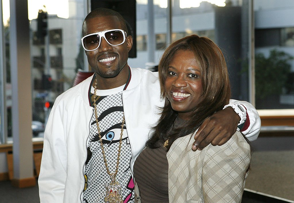 "Kanye West supports his mother, Donda West during her book signing for her book, ""Raising Kanye: Life Lessons from the Mother of a Hip-Hop Superstar"" in May 2007 in Los Angeles. 