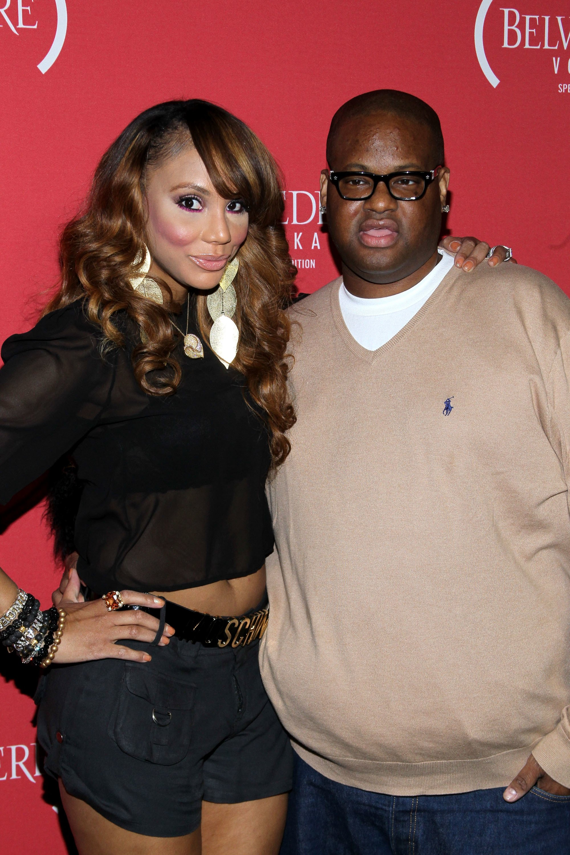 Tamar Braxton and Vincent Herbert at the  RED Pre-Grammys Party with Mary J Blige held at Avalon on February 9, 2012 in Hollywood, California | Photo: Getty Images