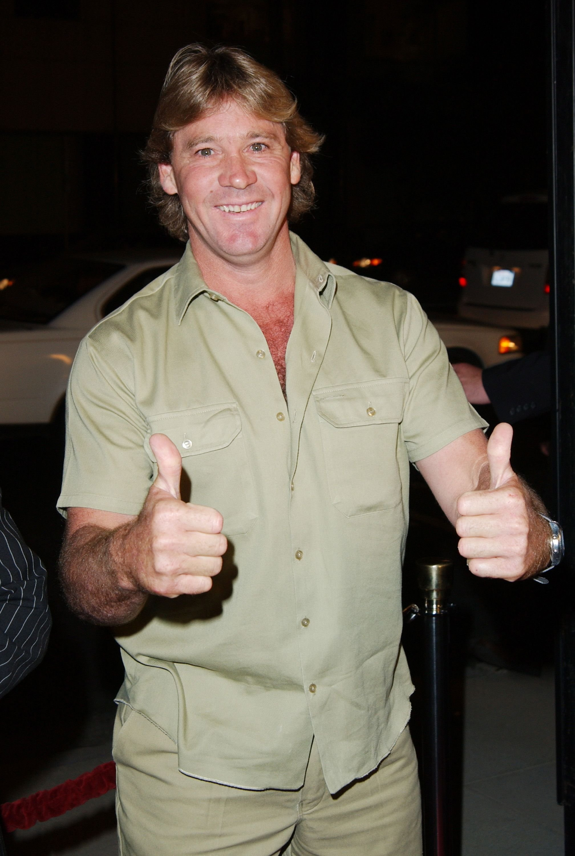 """Steve Irwin during """"Master And Commander: The Far Side Of The World"""" - Los Angeles Premiere in Beverly Hills, California   Photo: Jon Kopaloff/FilmMagic/Getty Images"""