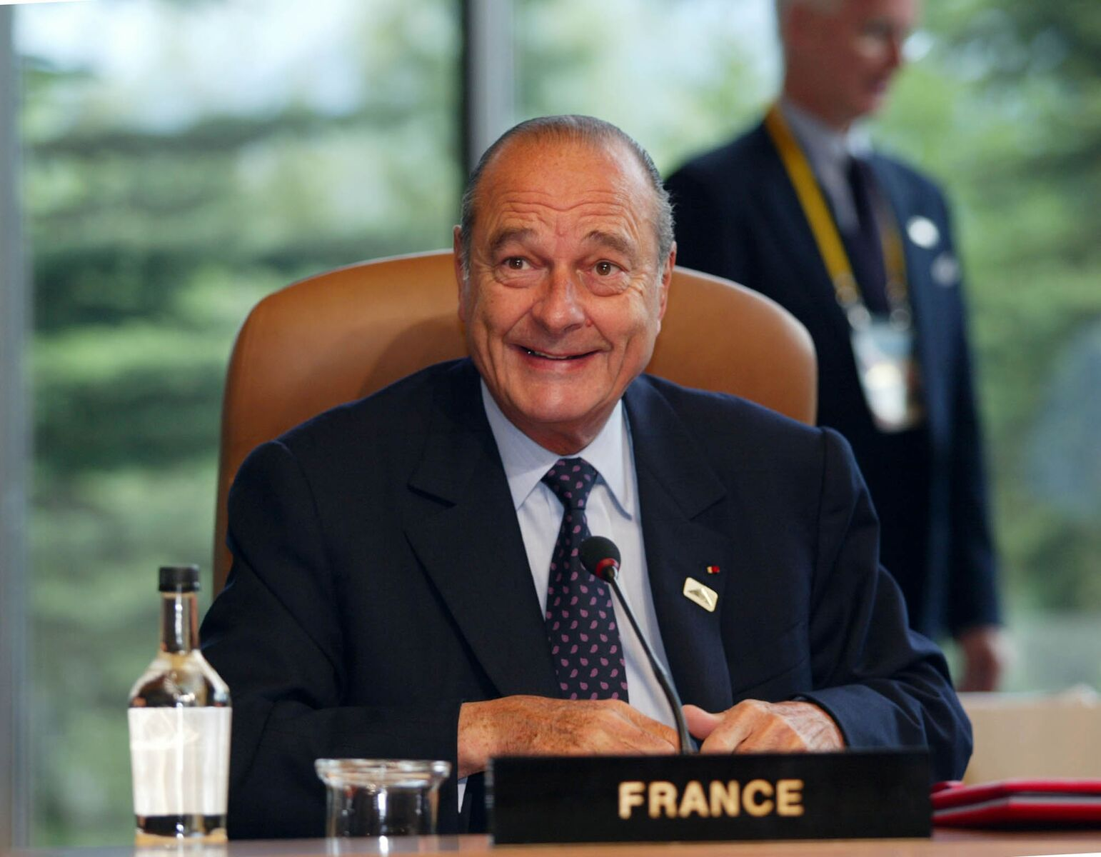 Jacques Chirac entrain de donner une conférence - Photo : Getty Images