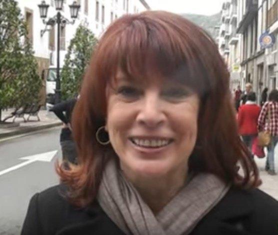 Cristina García Ramos en una calle de Madrid. | Foto: YouTube/Grado Noticias