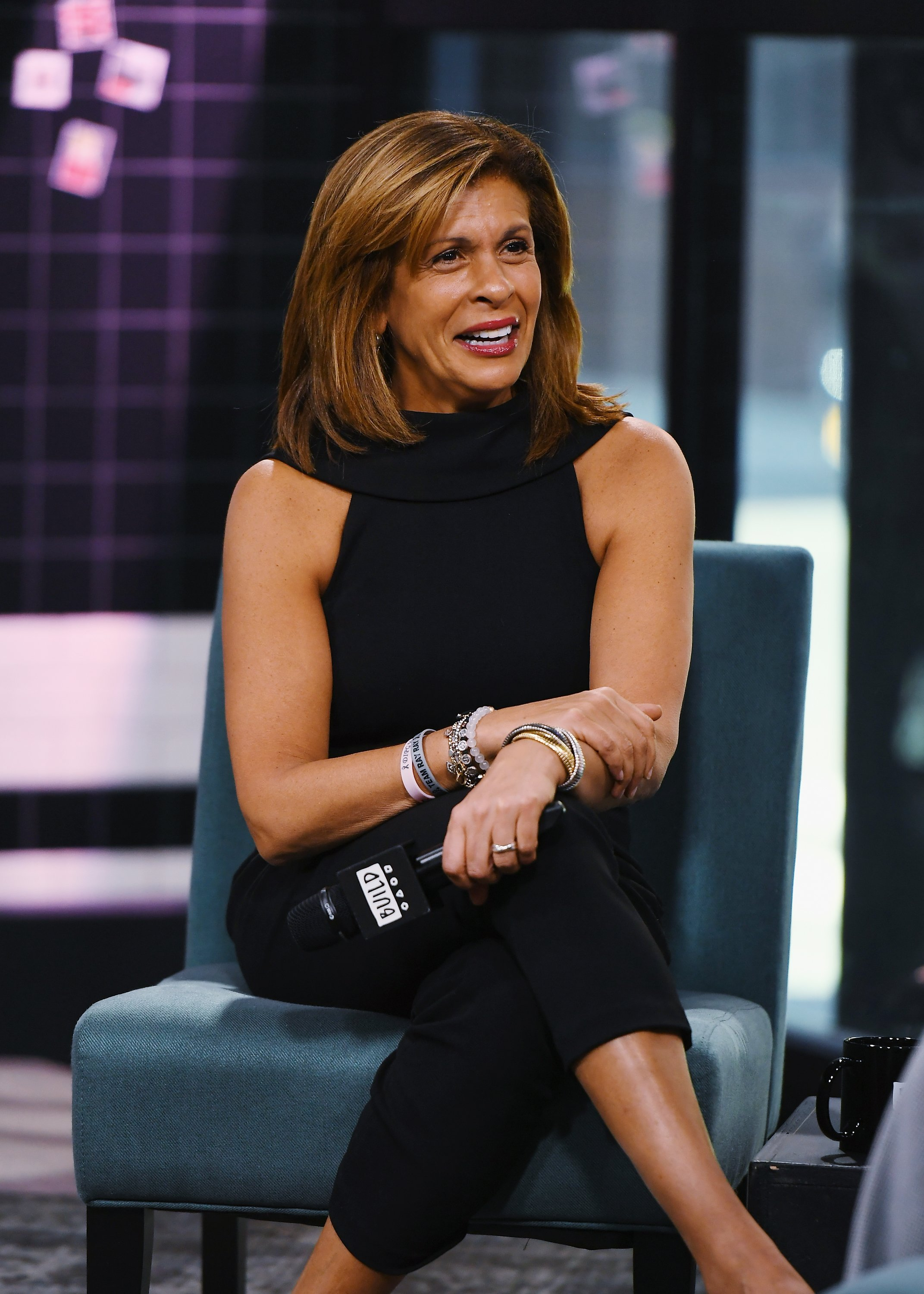 "Hoda Kotb visits Build to discuss her new book ""You Are My Happy"" at Build Studio on March 12, 2019, in New York City. 