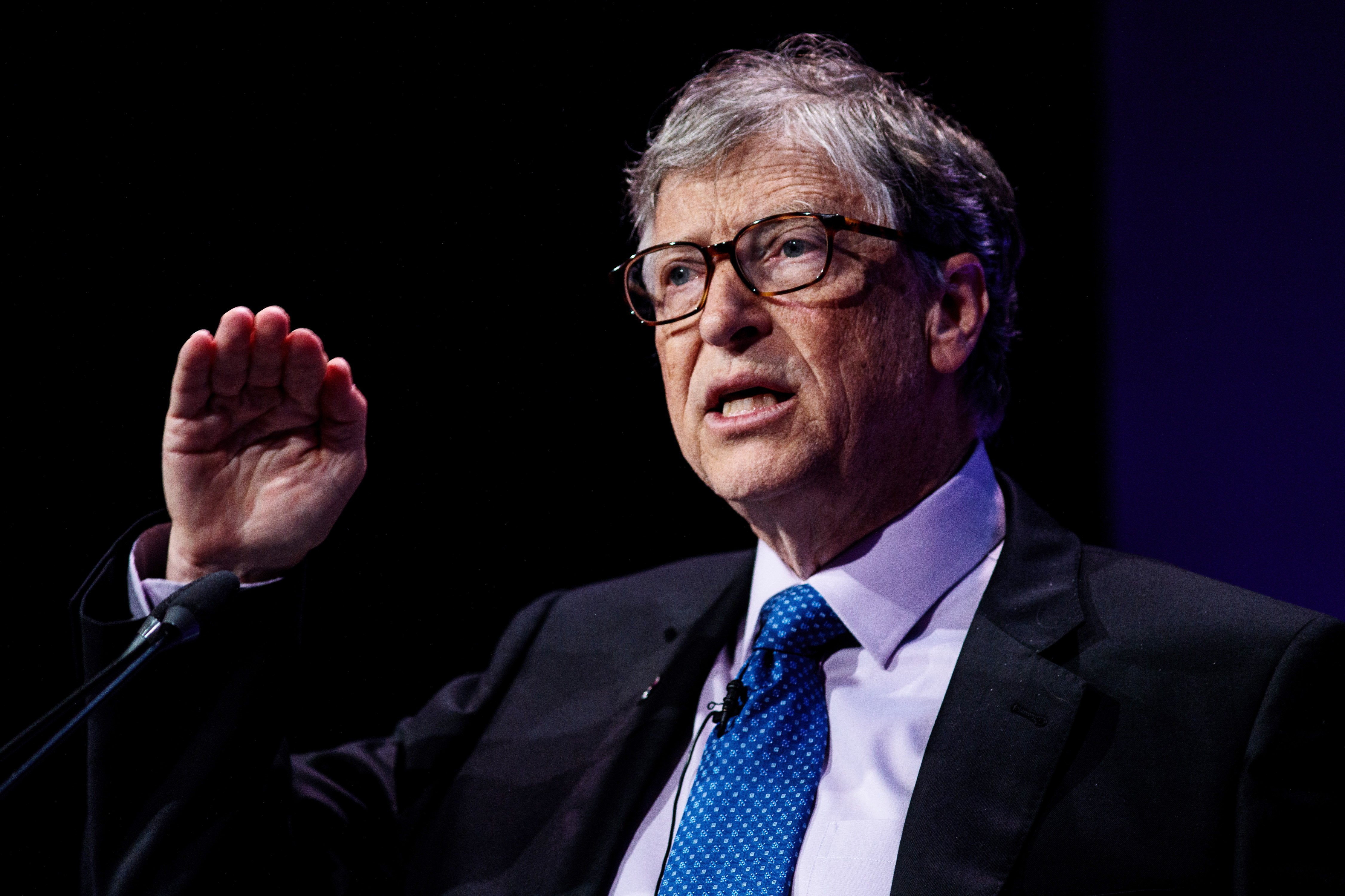 Bill Gates makes a speech at the Malaria Summit on April 18, 2018, in London, England. | Source: Getty Images.