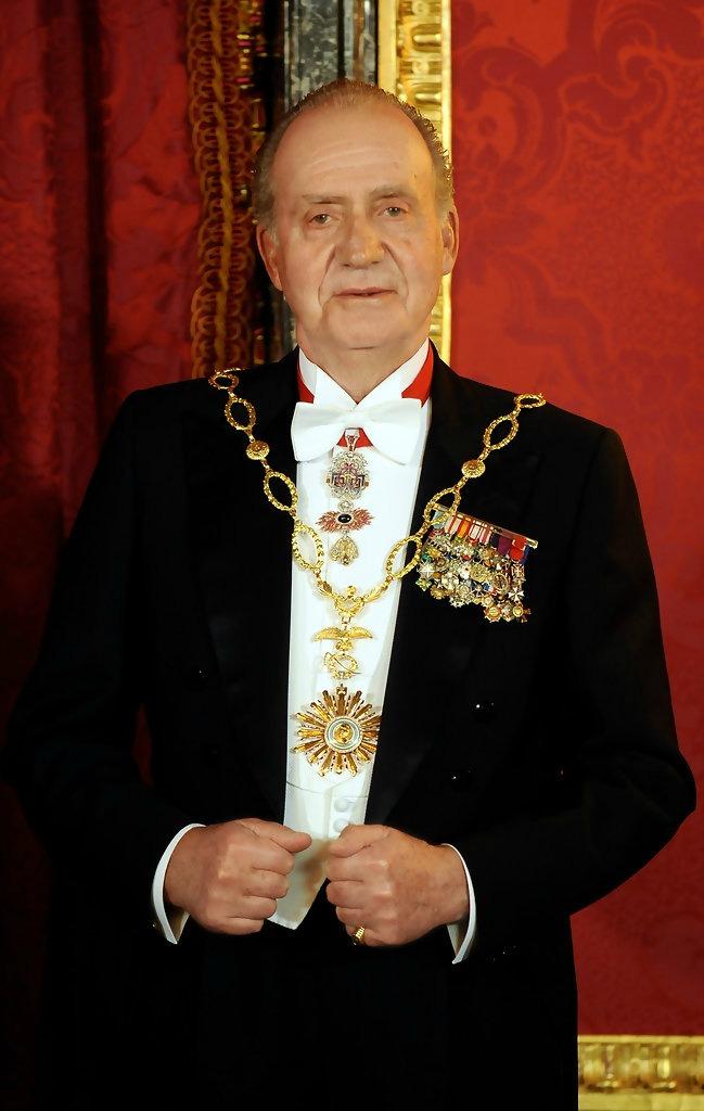 El rey Juan Carlos de España, durante la cena de gala en honor a Cristina Fernández de Kirchner, en el Palacio Real de Madrid. | Imagen: Flickr