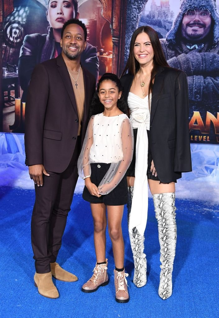"Jaleel White, Samaya White and Shannon Decker attend the premiere of Sony Pictures' ""Jumanji: The Next Level"" at TCL Chinese Theatre on December 09, 2019 
