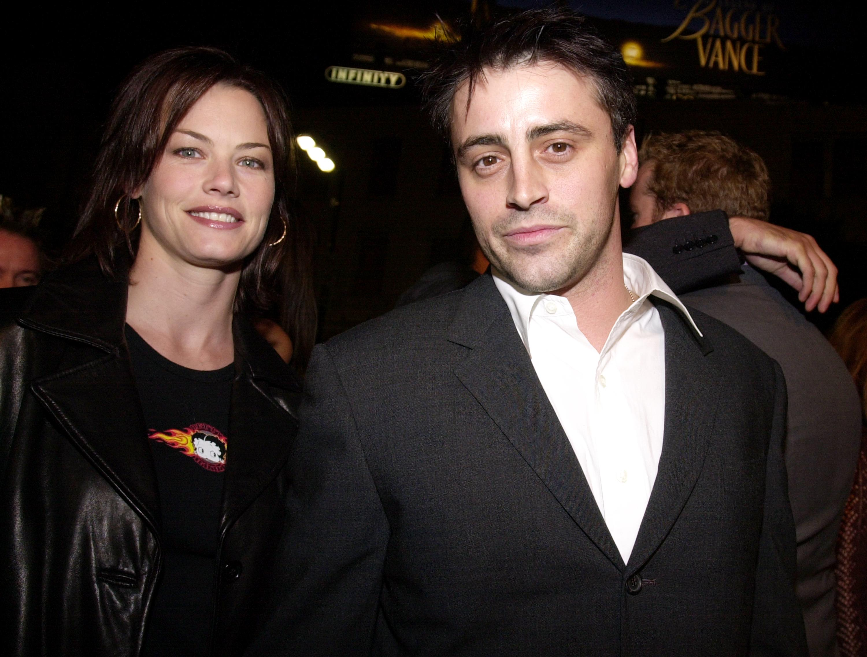 "Matt LeBlanc and fiancee Melissa McKnight arrive at the premiere of Columbia Pictures ""Charlie''s Angels"" October 22, 2000, at Mann''s Chinese Theatre in Hollywood, CA. 