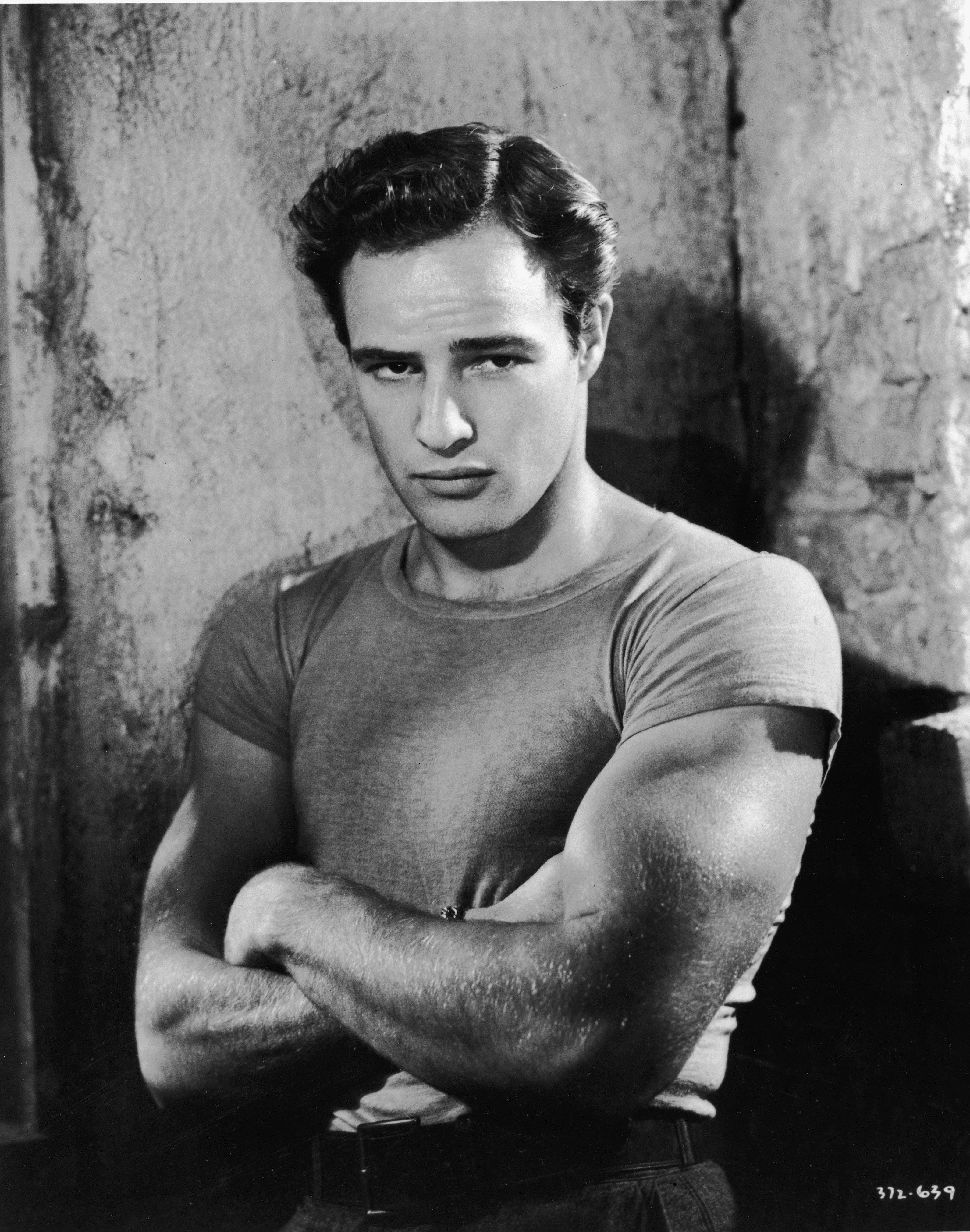 Marlon Brando en sus años de juventud │Imagen tomada de: Flickr