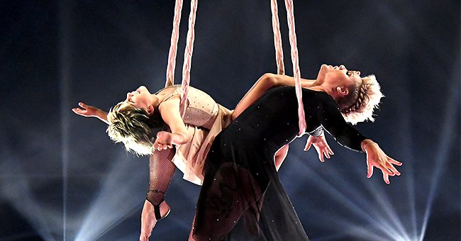 Pink Steals the Show with Daughter Willow, 9, during Acrobatic Performance at the 2021 BMAs