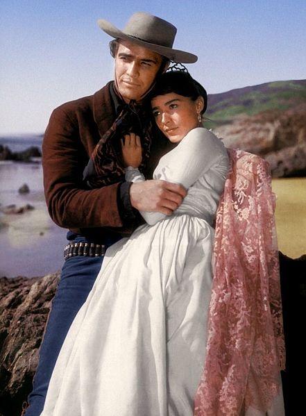 Marlon Brando y Pina Pellicer.| Fuente: Wikipedia
