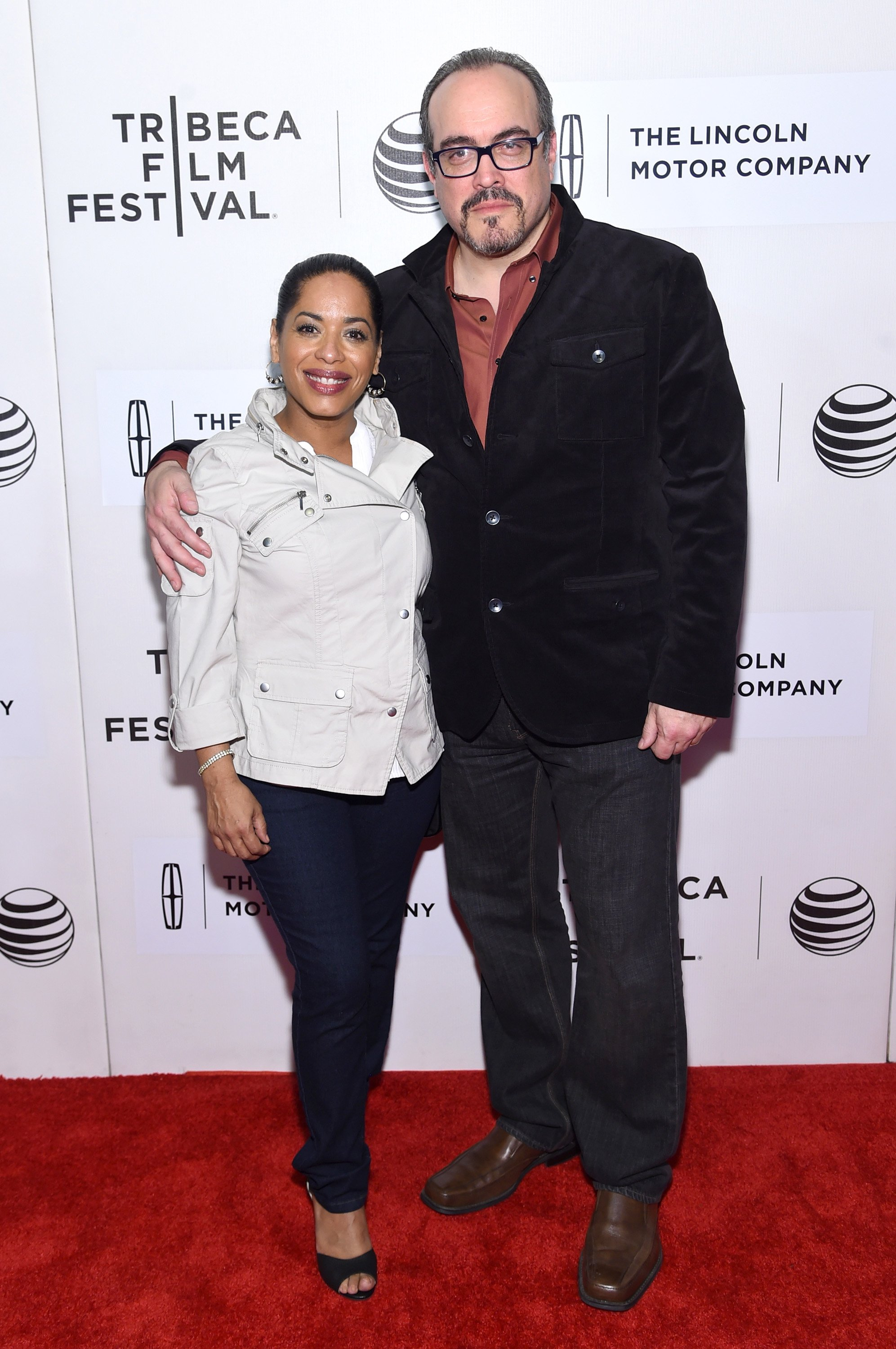"Liza Colón-Zayas and David Zayas attend the premiere of ""The Wannabe"" during the 2015 Tribeca Film Festival at BMCC Tribeca PAC on April 17, 2015, in New York City. 