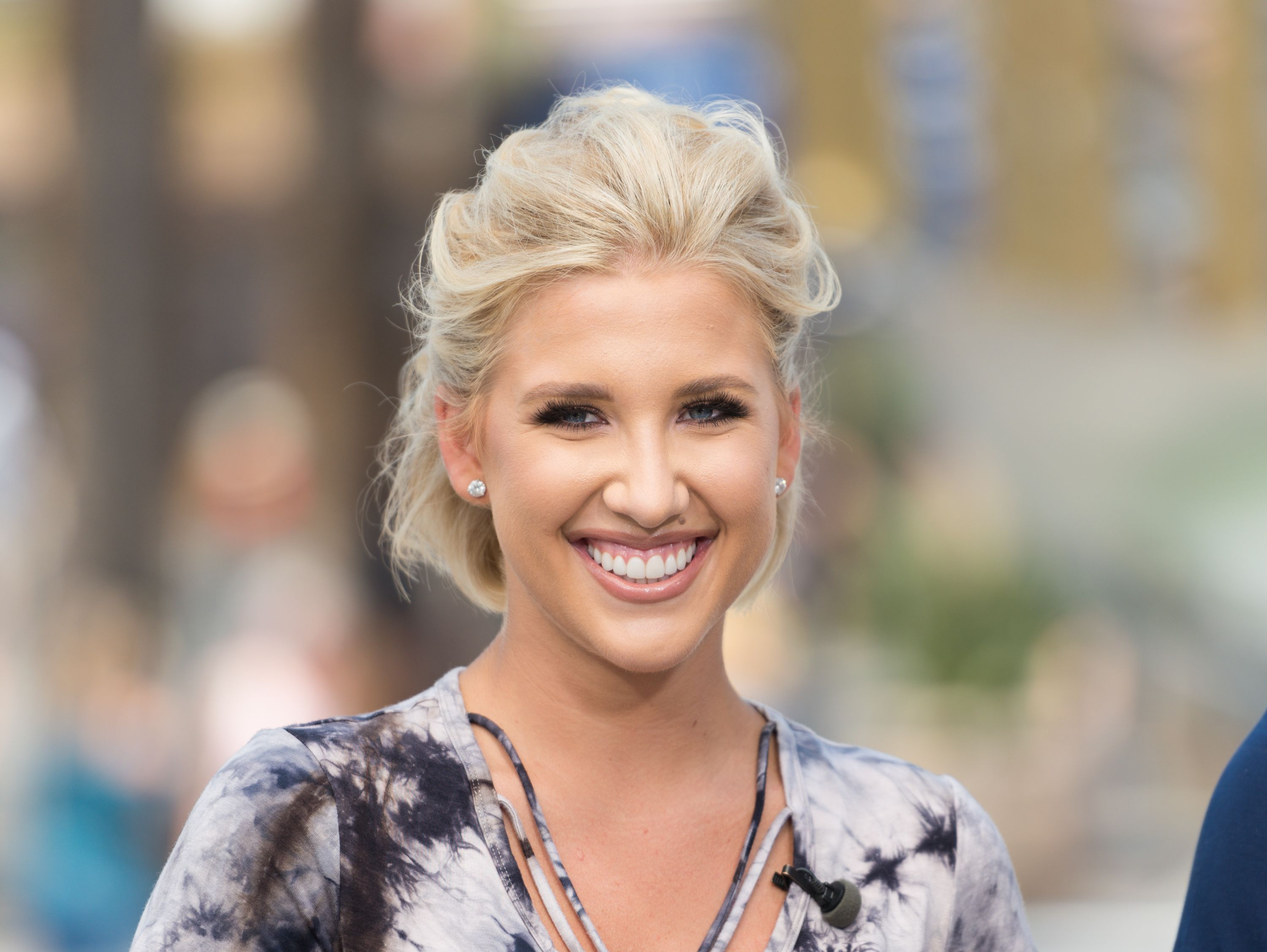 """Savannah Chrisley visited """"Extra"""" at Universal Studios Hollywood on July 18, 2017 in Universal City, California. 