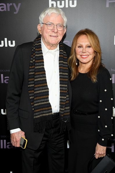 Phil Donahue and Marlo Thomas at Directors Guild of America Theater on March 04, 2020 in New York City. | Photo: Getty Images