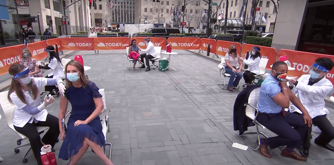 """Screenshot of the """"Today"""" hosts at Rockefeller Center.   Source: Youtube/Today"""