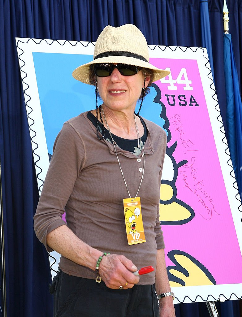 Julie Kavner attends The Simpsons' U.S. postage stamp dedication ceremony on May 7, 2009 in Los Angeles | Photo: Getty Images