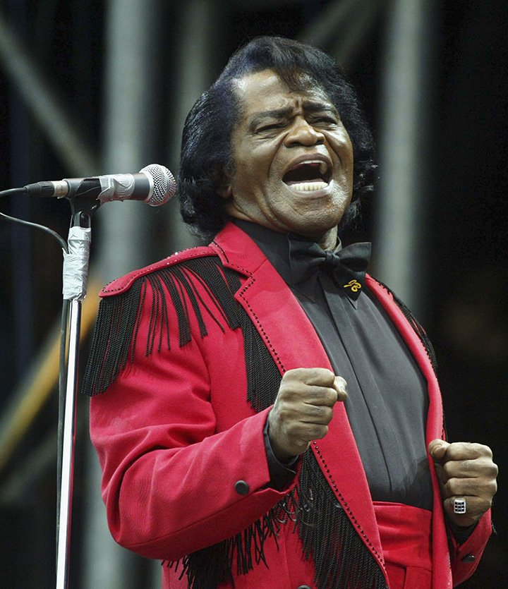 James Brown on the Pyramid Stage during the third and final day of the Glastonbury Festival 2004 at Worthy Farm, Pilton on June 27, 2004 in Somerset, England. I Image: Getty Images.