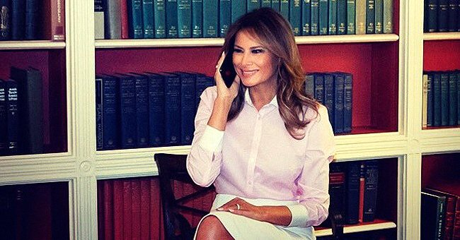 Melania Trump Dazzles in White Skirt & Pink Shirt Sending Well Wishes on National Teachers' Day