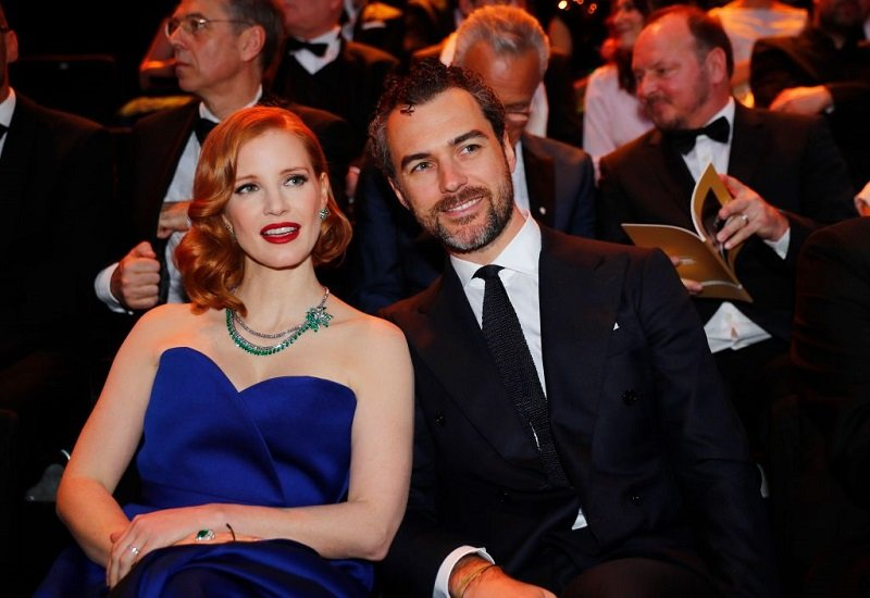 Jessica Chastain and her husband Gian Luca Passi de Preposulo in Berlin, on March 30, 2019 | Photo: Getty Images