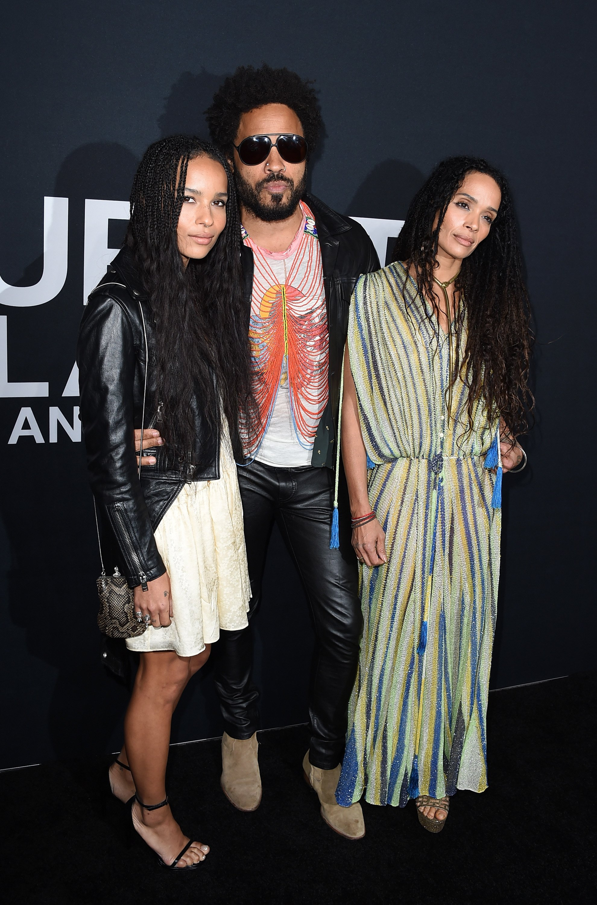 Lenny Kravitz with daughter Zoe and ex-wife Lisa Bonet attend the Saint Laurent Show in Los Angeles, California on Feburary 10, 2016 | Photo: Getty Images