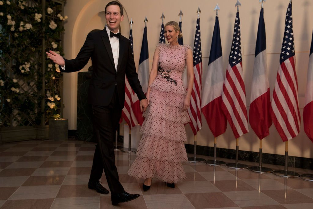 Jared Kushner and Ivanka Trump arrive at the White House for a state dinner April 24, 2018 in Washington, DC. | Photo: Getty Images