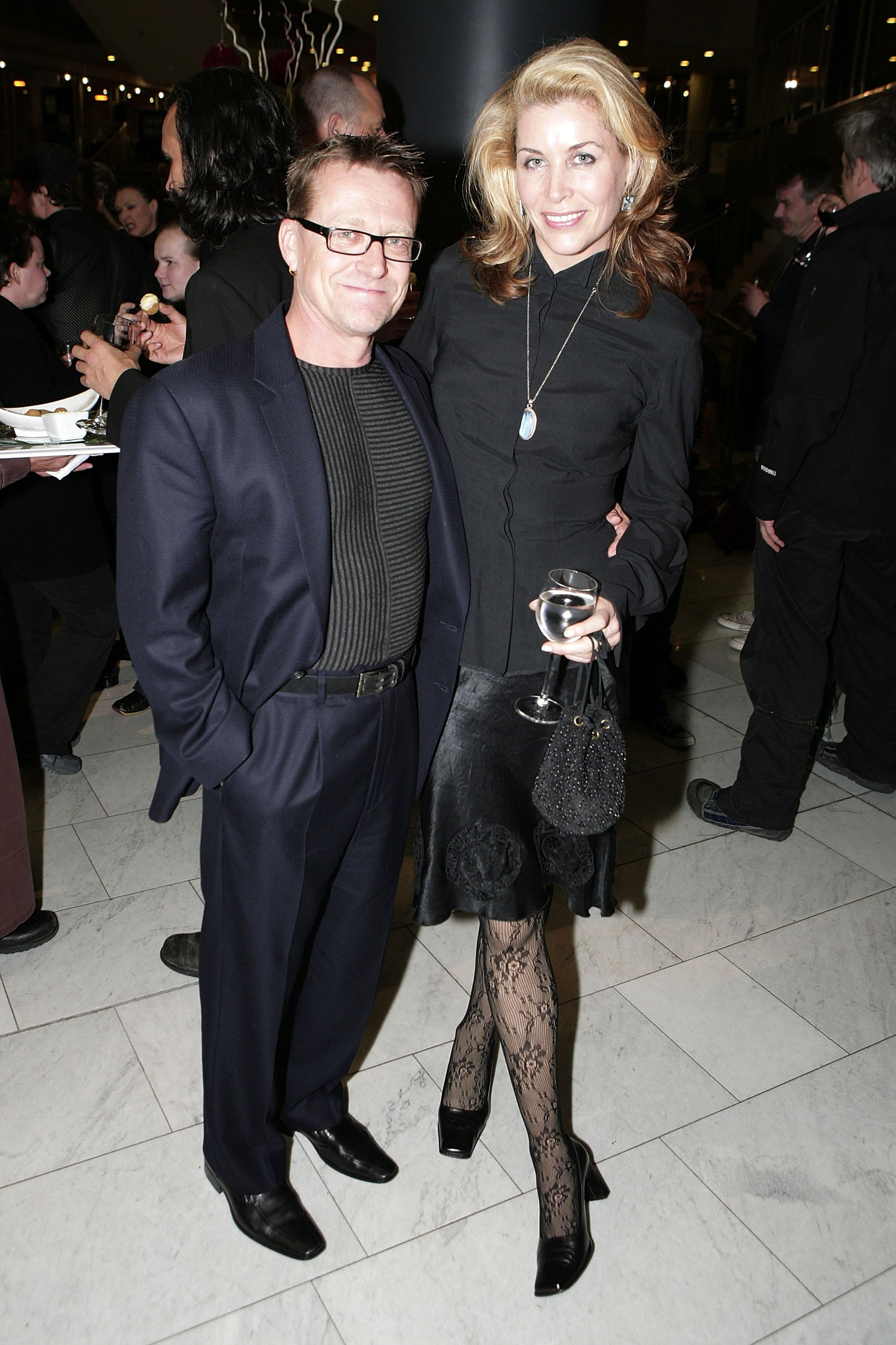 """Michael Hurst and Jennifer Ward-Lealand at the opening night after party of The Royal Shakespeare Company's production of """"King Lear"""" in 2007 in Auckland, New Zealand 