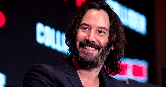 Keanu Reeves Spotted in an Unbuttoned Robe on the Set of 'Bill & Ted'