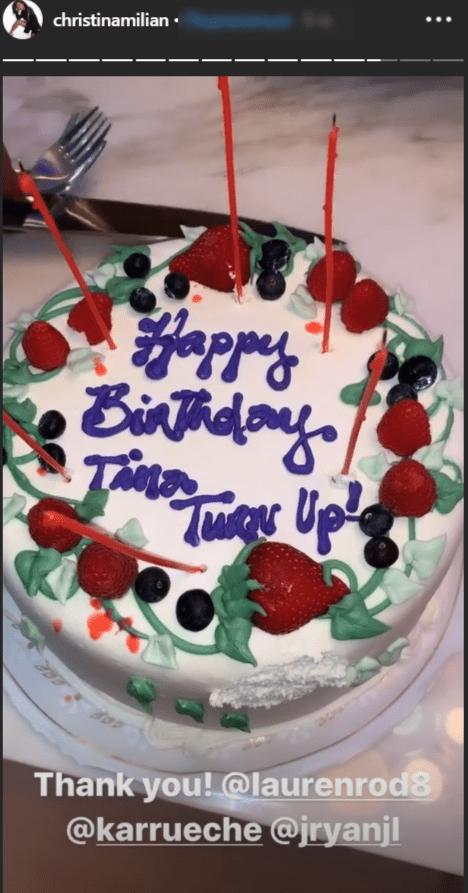 Gâteau d'anniversaire du couple Matt Pokora et Christina Milian   Source : instagram.com/m.pokora