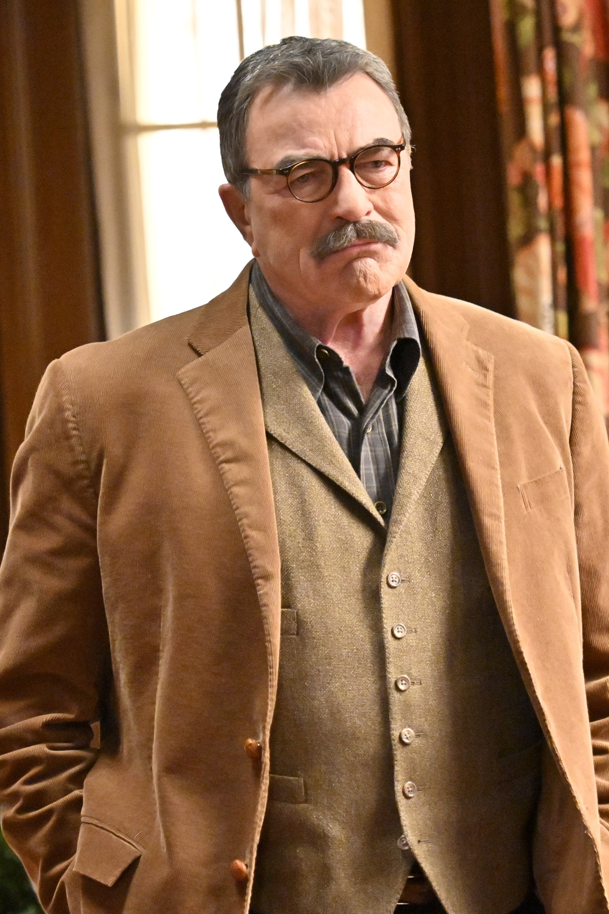 """Tom Selleck on an episode of """"Blue Bloods"""" on May 1, 2020. 