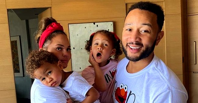 See John Legend's Kids Luna and Miles in Their Adorable Summer Outfits While Outdoors (Photo)