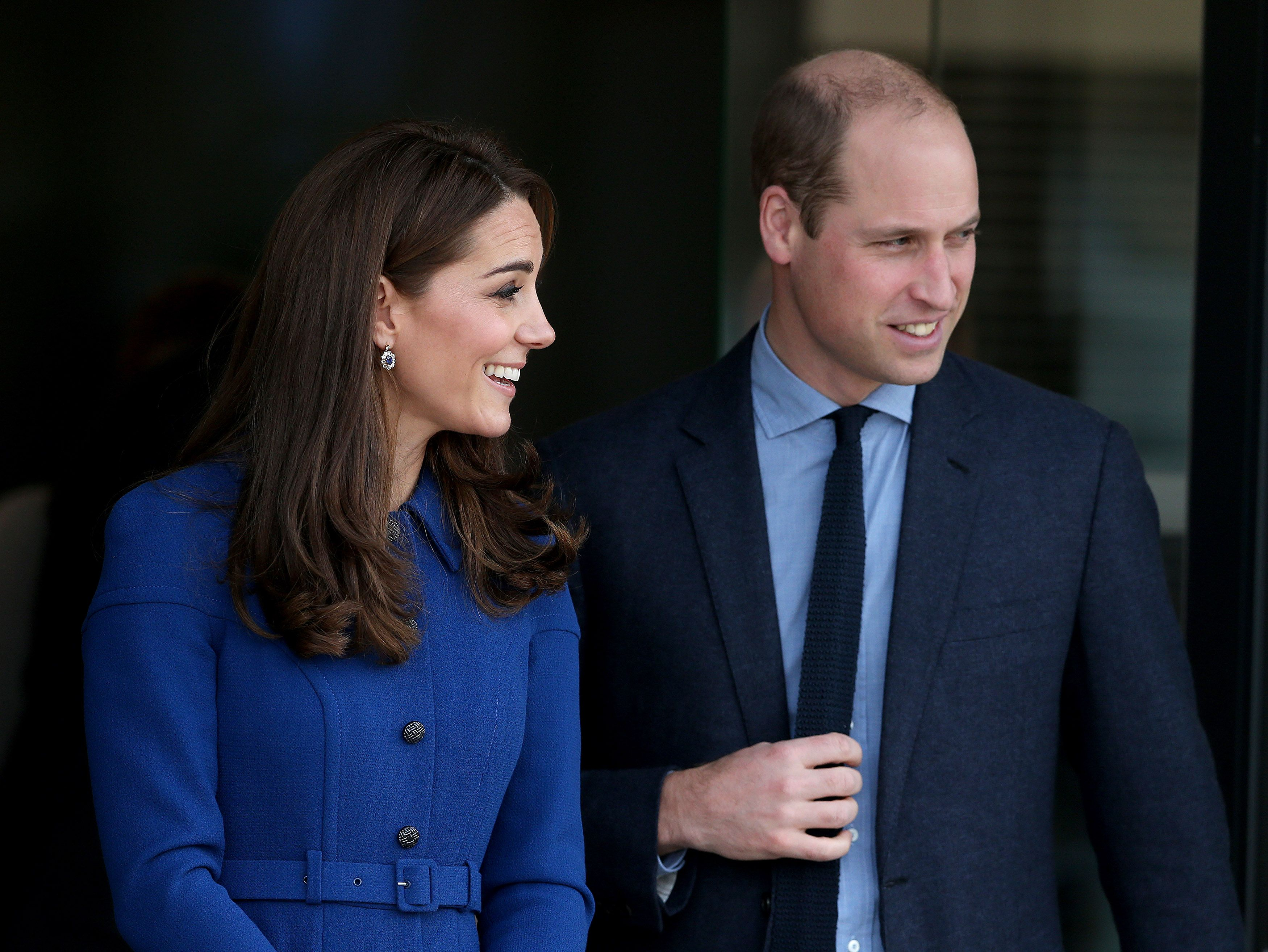 The Duke & Duchess Of Cambridge depart after at McLaren Automotive Composites Technology Centre on November 14, 2018 | Photo: Getty Images