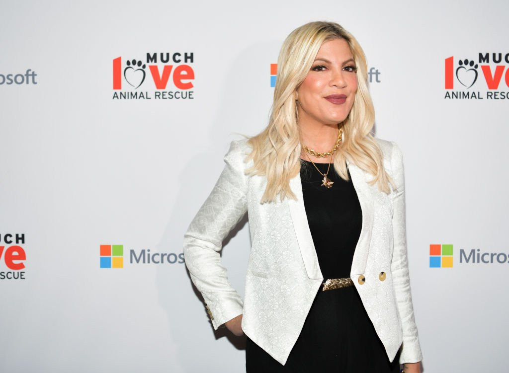 Tori Spelling at the Much Love Animal Rescue 3rd Annual Spoken Woof Benefit on October 17, 2019.   Photo: Getty Images