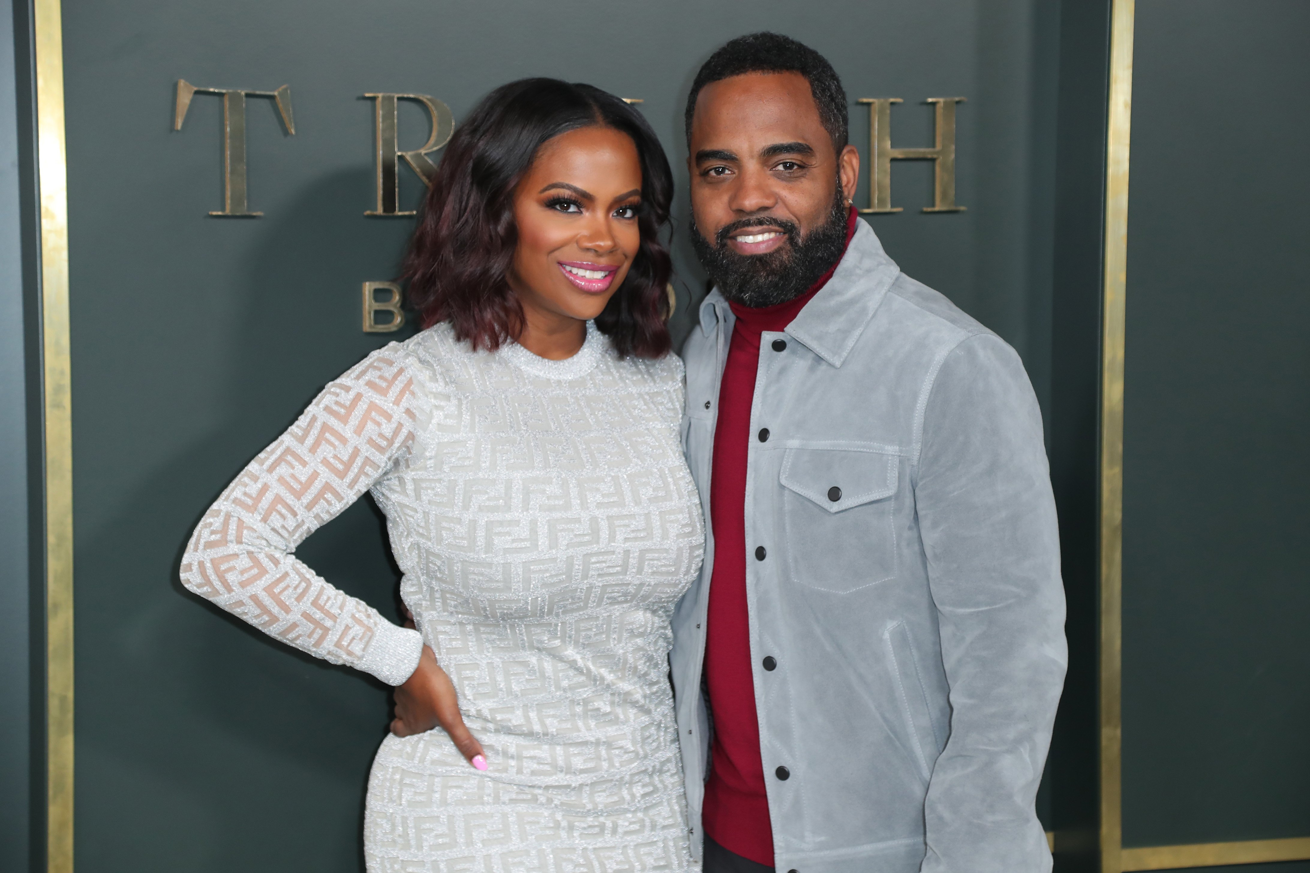 "Kandi Burruss and Todd Tucker at the Beverly Hills Premiere Of Apple TV+'s ""Truth Be Told"" in November 2019. 