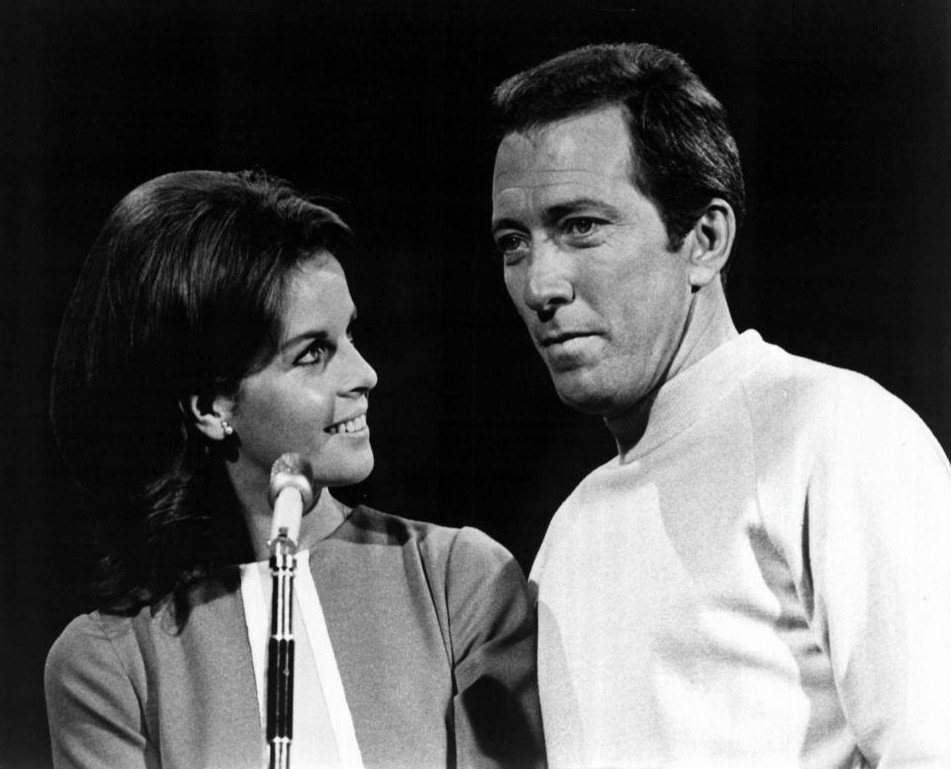 "Claudine Longet and Andy Williams from the television program ""The Andy Williams Show."" 
