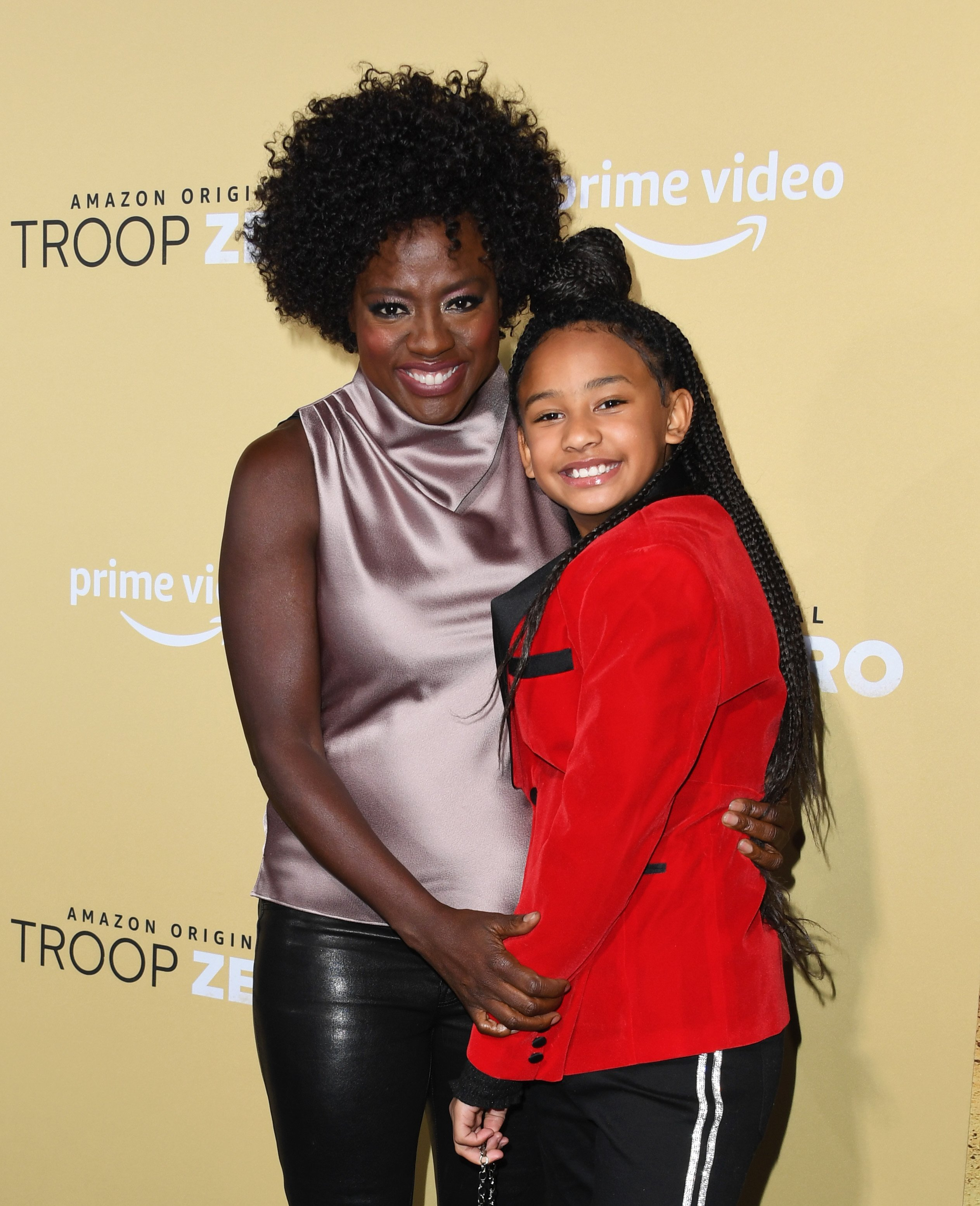 """Viola Davis and daughter Genesis attends the premiere of """"Troop Zero"""" in Los Angeles, California on January 13, 2020 