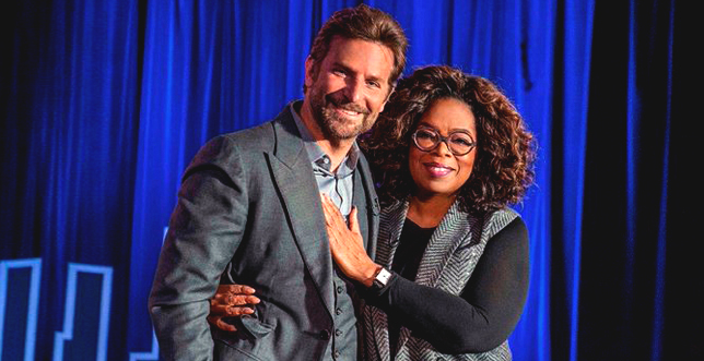 Oprah Winfrey Gets Help from Bradley Cooper While Enjoying a Bike Ride Together in Sicily during the 2019 Google Camp