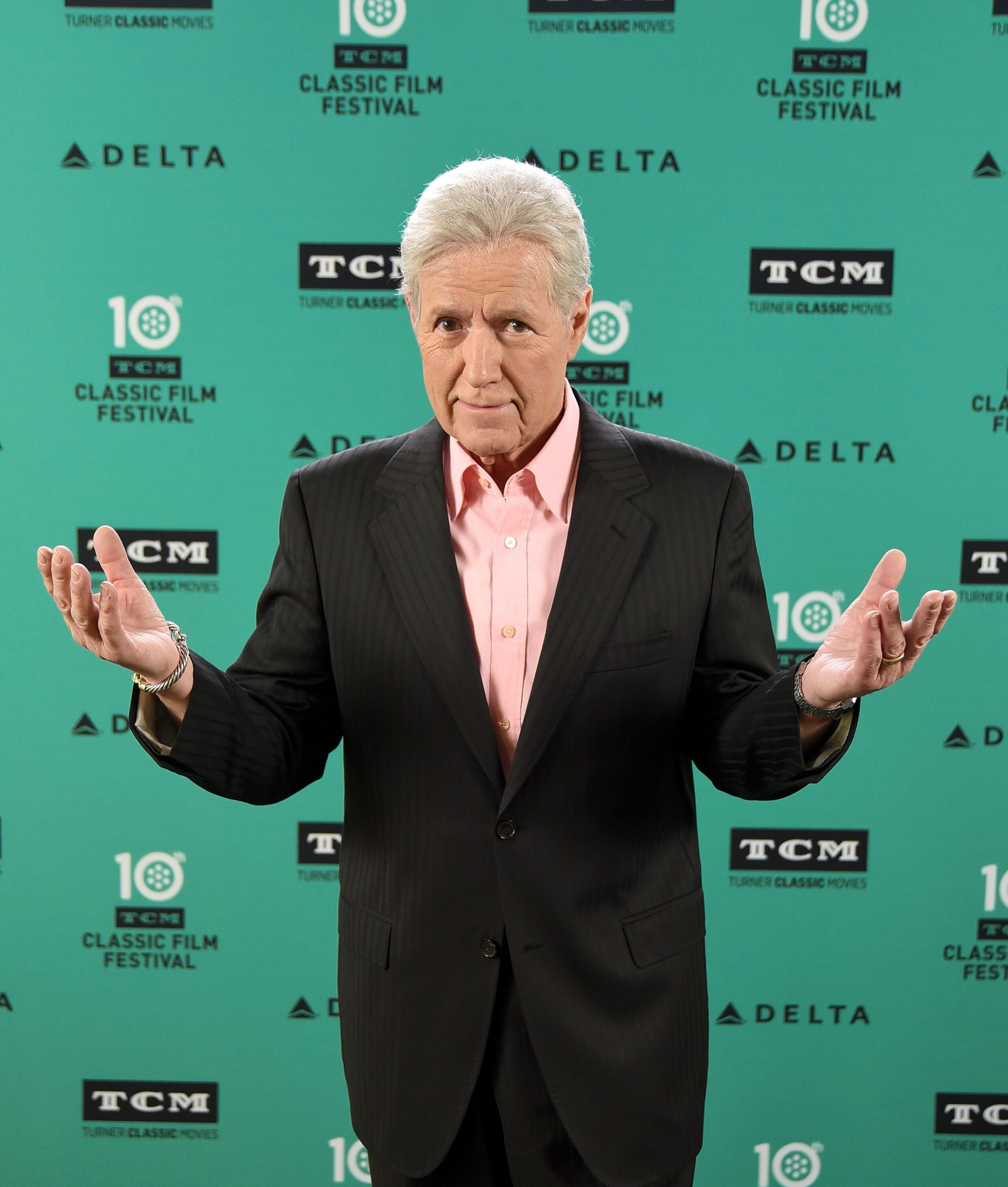 Alex Trebek at TCM's 10th annual classic film festival in Hollywood, California in 2019 | Photo: Getty Images