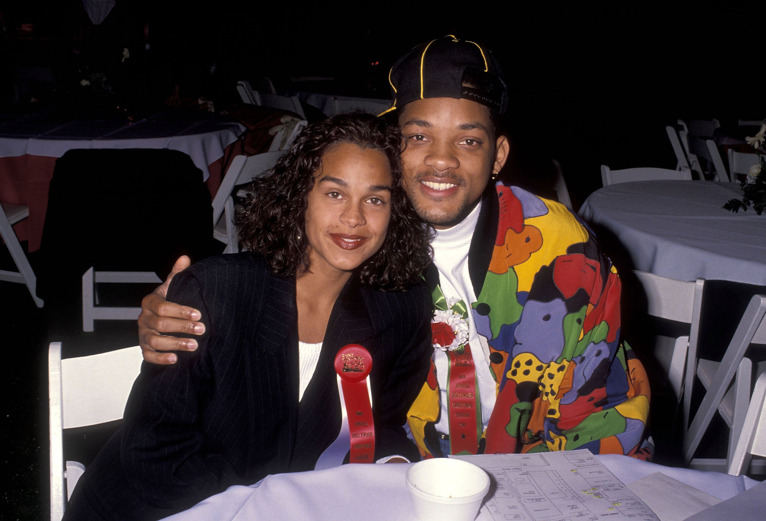 Will Smith and Sheree Zampino at the 60th Annual Hollywood Christmas Parade on December 1, 1991 at KTLA Studios in Hollywood, California.| Source: Getty Images