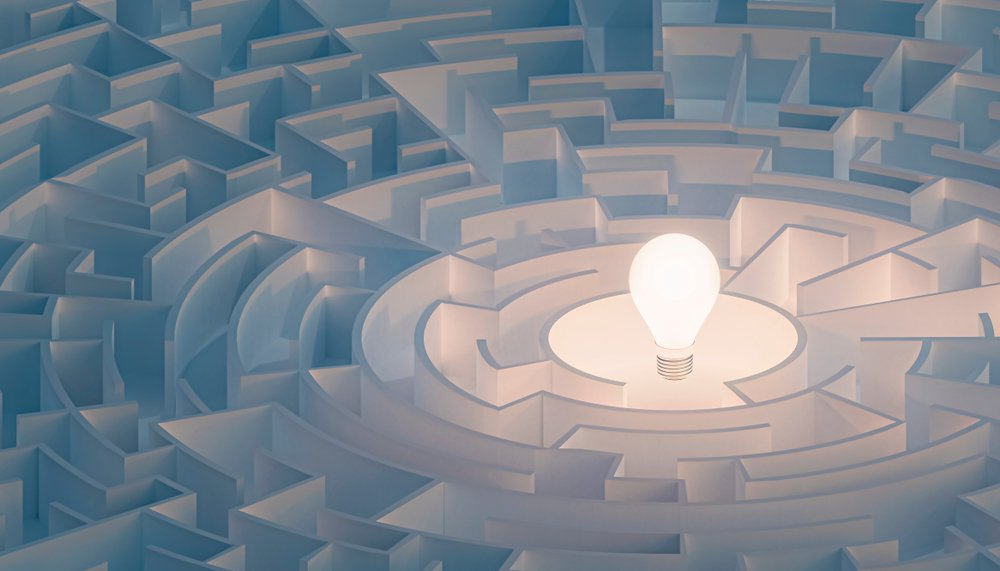 A photo of a circular maze that symbolizes riddles.   Photo: Shutterstock