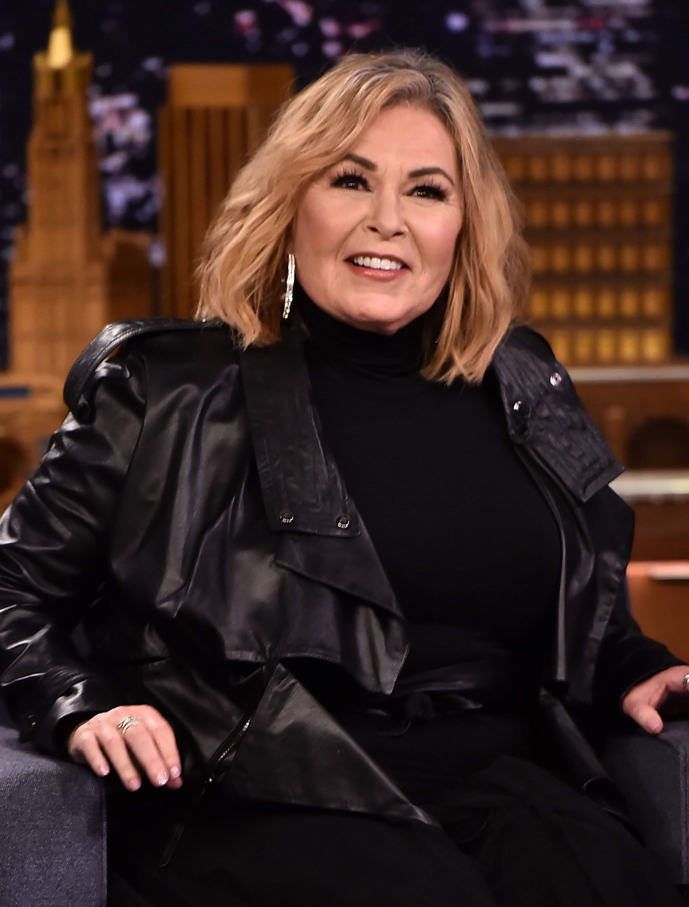 "Roseanne Barr Visits ""The Tonight Show Starring Jimmy Fallon"" on April 30, 2018, in New York City. 