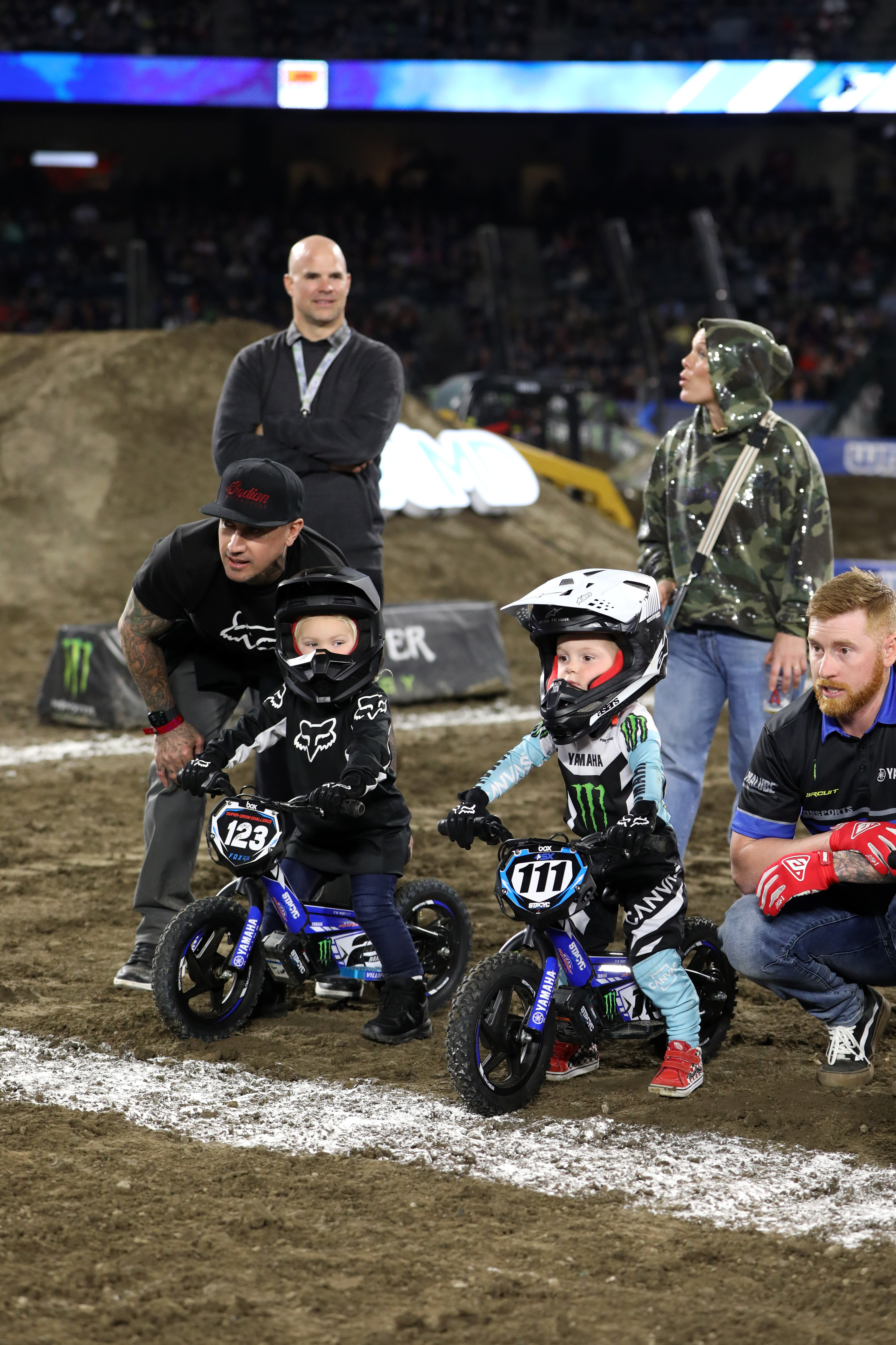 Carey Hart, Pink, and their son, Jameson, attend the Monster Energy Supercross VIP Event at Angel Stadium on January 18, 2020 in Anaheim, California. | Source: Getty Images