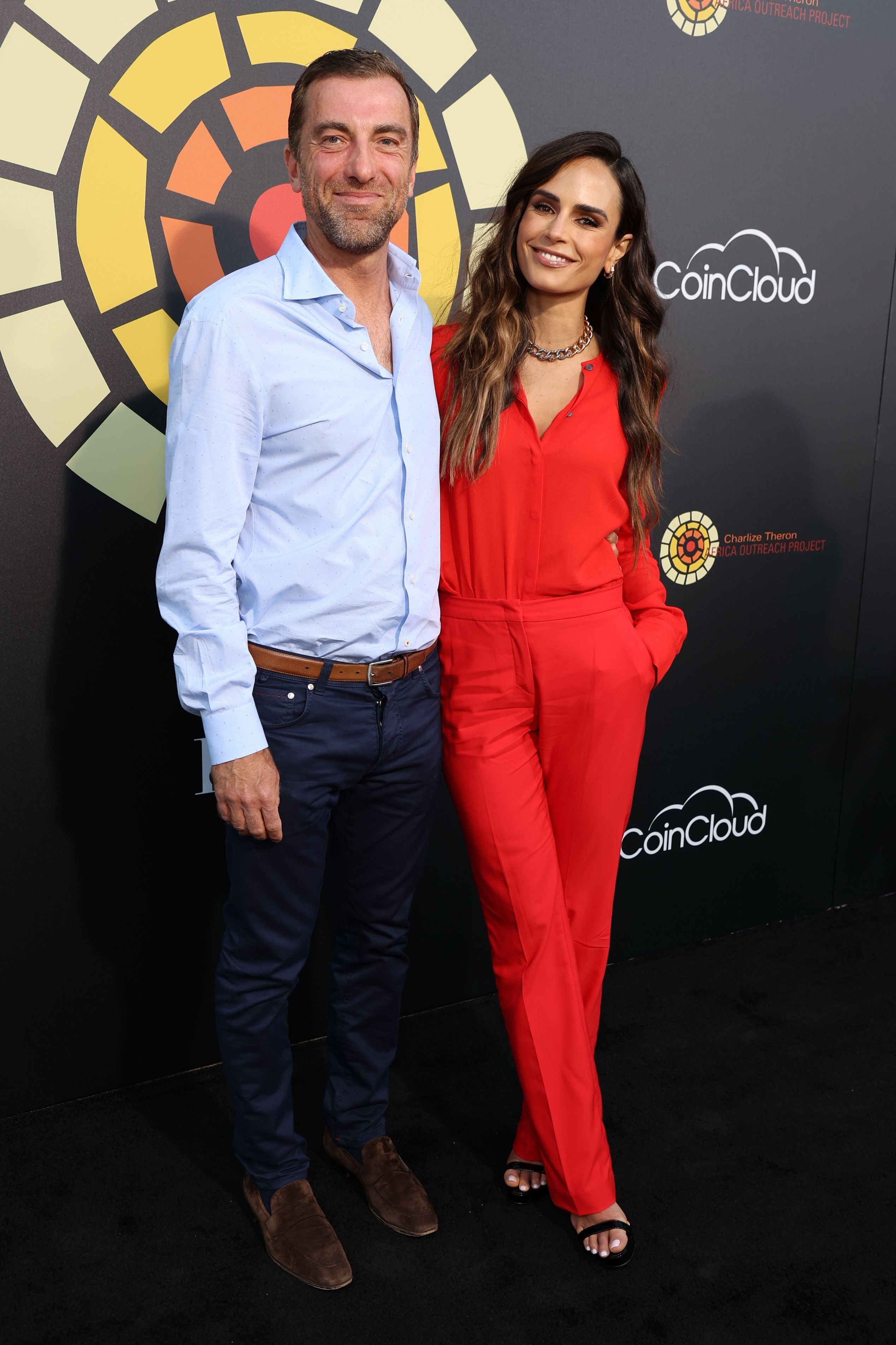Jordana Brewster and Mason Morfit pictured at CTAOP's Night Out, 2021, Universal City, California. | Photo: Getty Images