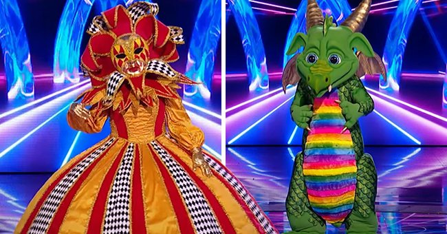 Here's Who 'The Masked Singer' Revealed Was the Dragon & Harlequin during the Show's Semi-final