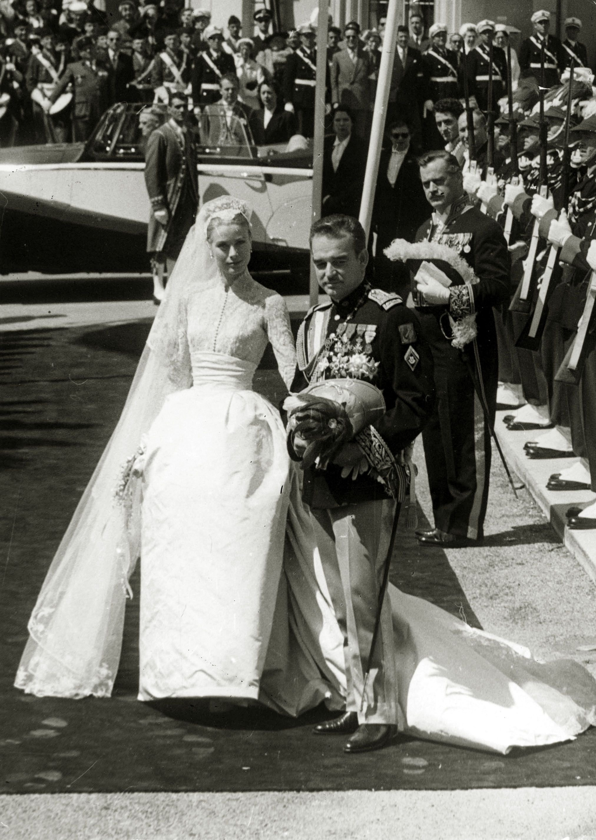 Prince Rainier III and Princess Grace Kelly of Monaco during their wedding, 20th century. | Source: Getty Images