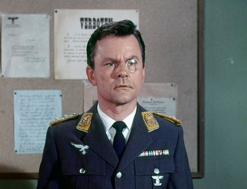 """Bob Crane as Col. Robert Hogan in an episode of """"Hogan's Heroes"""" aired in April 1967 
