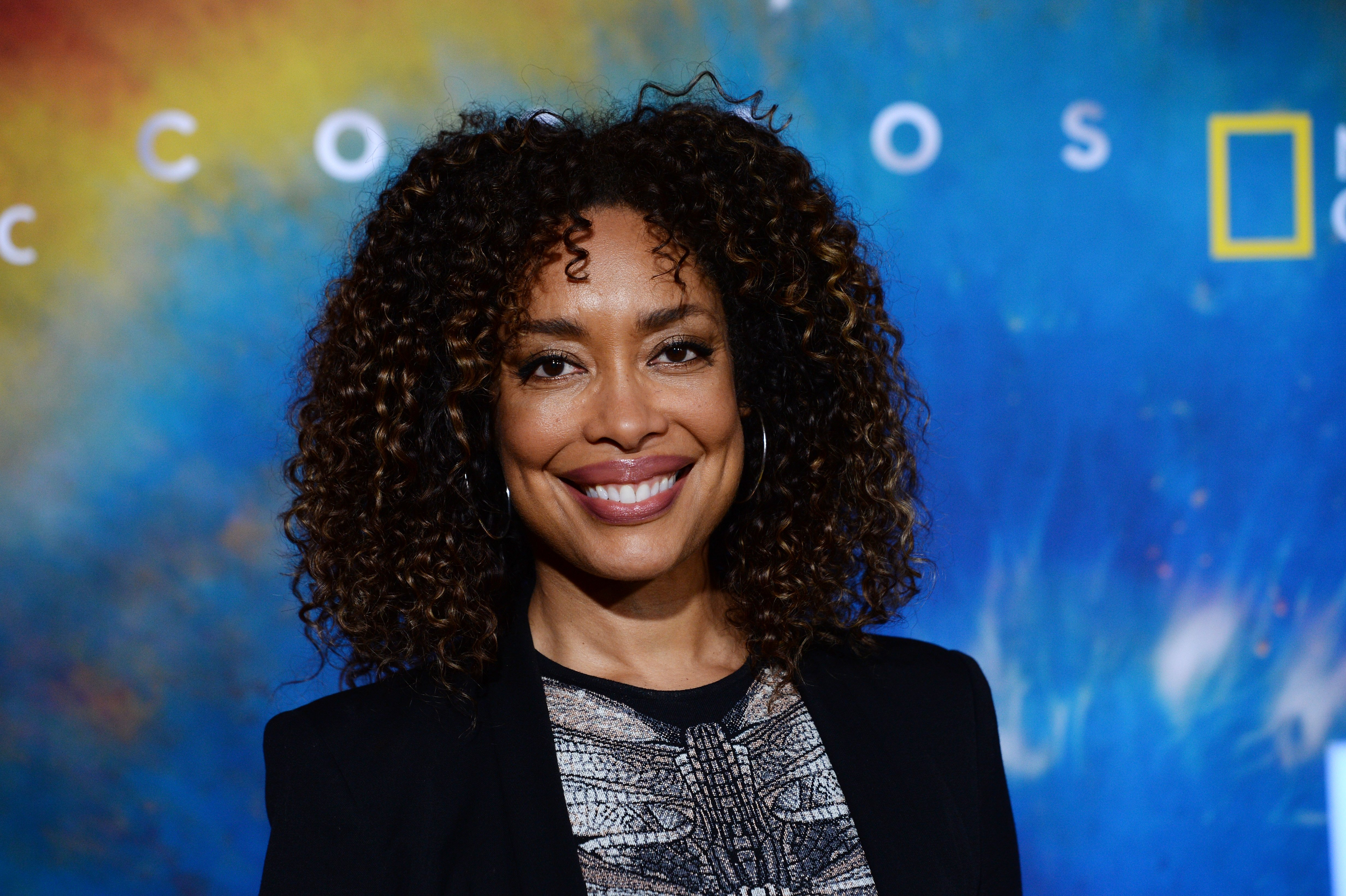 """Gina Torres arrives at National Geographic's """"Cosmos: Possible Worlds"""" Los Angeles Premiere at Royce Hall, UCLA on February 26, 2020  