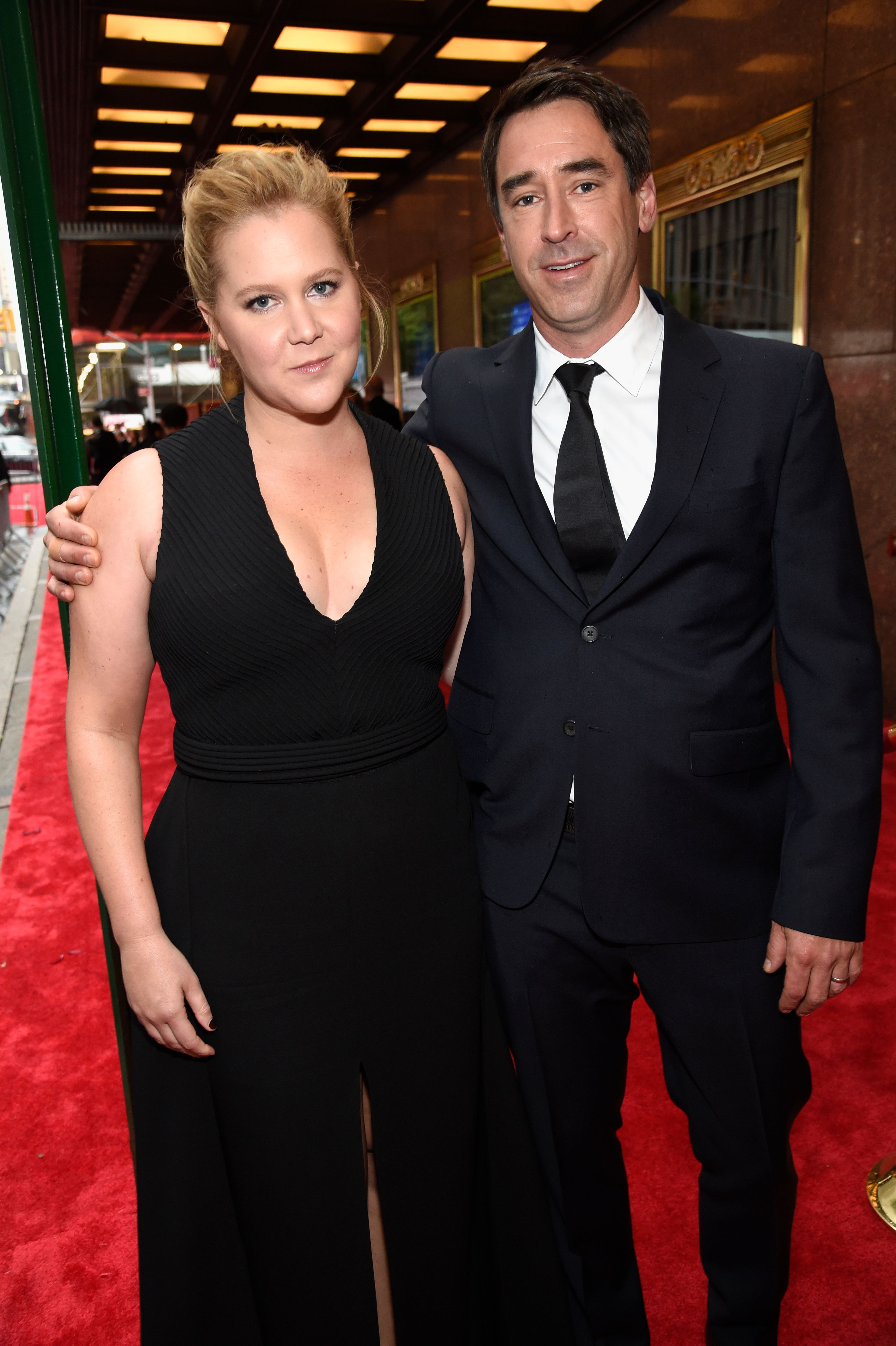 Amy Schumer and Chris Fischer at the 72nd Annual Tony Awards in 2018, in New York City | Source: Getty Images