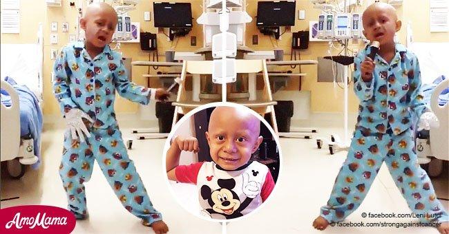 La danse de la victoire d'un petit garçon qui a vaincu le cancer fait sensation dans le monde entier