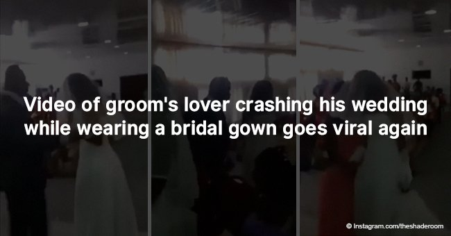 Video of groom's lover crashing his wedding while wearing a bridal gown goes viral again